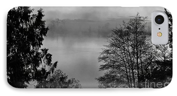 Misty Morning Sunrise Black And White Art Prints IPhone Case