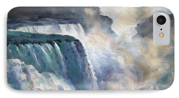 Misty Niagara Falls IPhone Case by Ylli Haruni