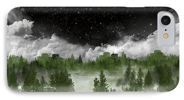 Misty Pines IPhone Case