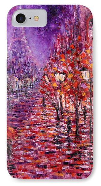 Misty Purple IPhone Case by Helen Kagan