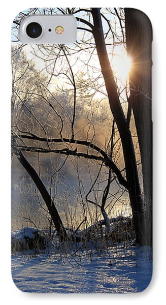 Misty River Sunrise Phone Case by Hanne Lore Koehler