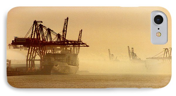 Misty Seattle Waterfront Phone Case by Jack Pumphrey