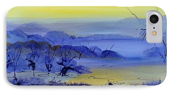 IPhone Case featuring the painting Misty Valley by Lyn Olsen