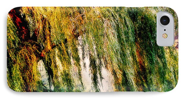 Misty Weeping Willow Tree Dreams IPhone Case by Carol F Austin