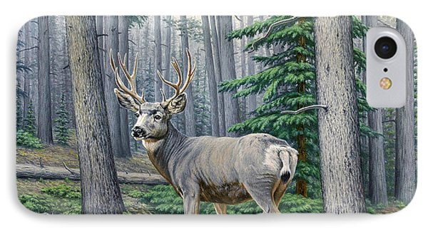 Misty Woods-buck IPhone Case by Paul Krapf