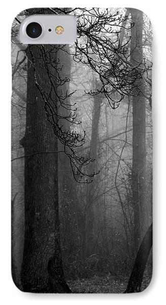 Misty Woods IPhone Case by Rebecca Davis