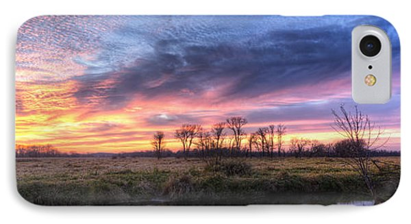 Mitchell Park Sunset Panorama IPhone Case by Scott Norris