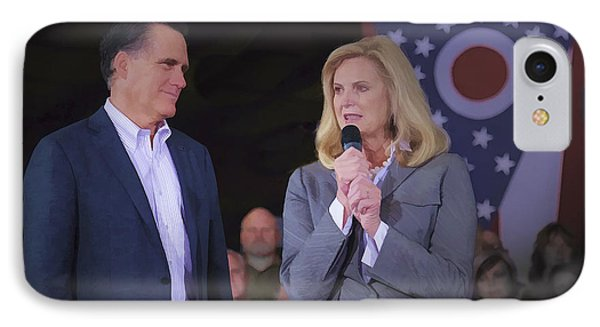 Mitt And Ann Romney In Ohio 2012 IPhone Case by Jack R Perry