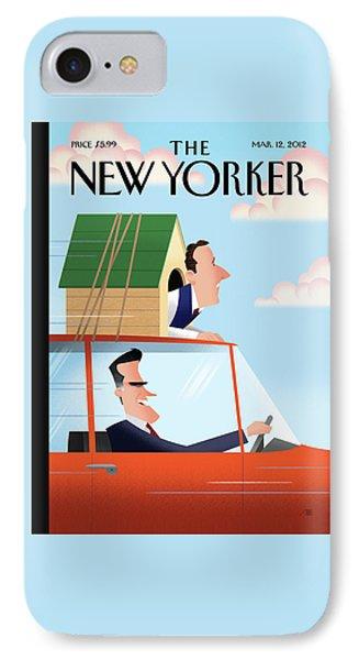 Mitt Romney Driving With Rick Santorum In A Dog IPhone Case