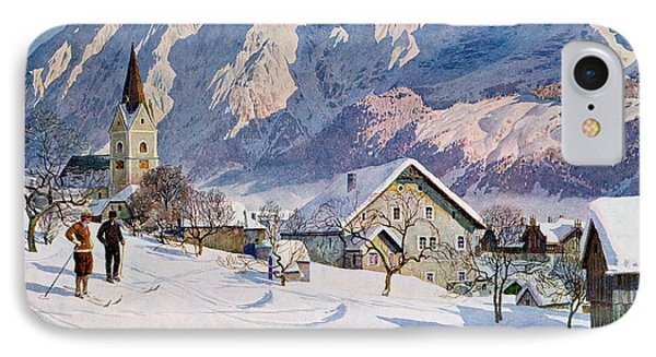 Mitterndorf In Austria IPhone Case by Gustave Jahn