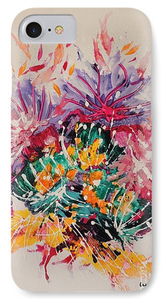 IPhone Case featuring the painting Mixed Coral by Lyn Olsen