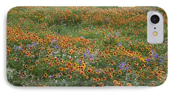 Mixed Wildflowers Blowing IPhone Case