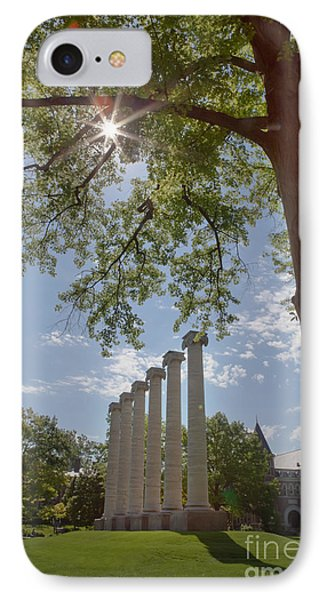 Mizzou Columns Sunflare IPhone Case
