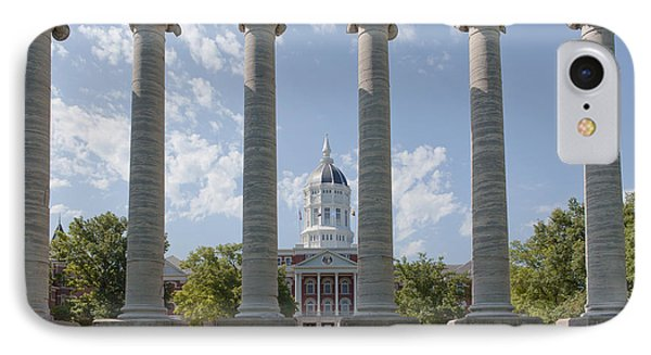 Mizzou Jesse Hall And Columns IPhone Case