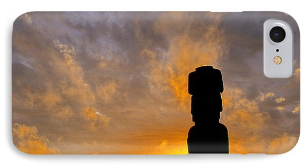Moai Easter Island Chile IPhone Case by Ryan Fox
