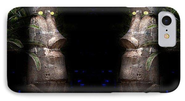 Moai Silver Phone Case by Gunter Nezhoda