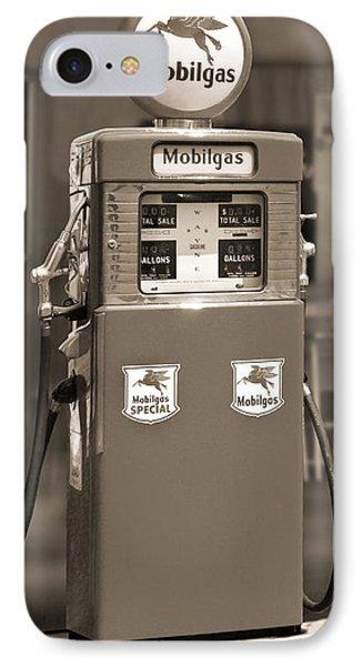Mobilgas - Wayne Double Gas Pump 2 Phone Case by Mike McGlothlen