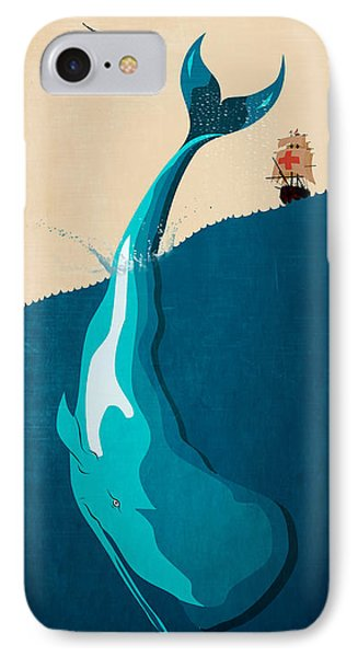 Moby Dick 2 IPhone Case by Mark Ashkenazi