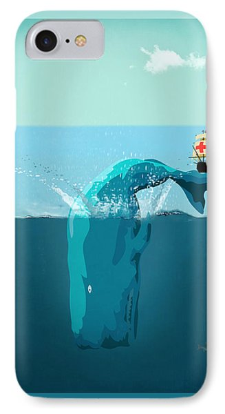 Moby Dick IPhone Case by Mark Ashkenazi