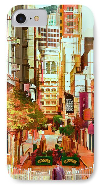 Mocca On Maiden Lane Phone Case by Bill Gallagher