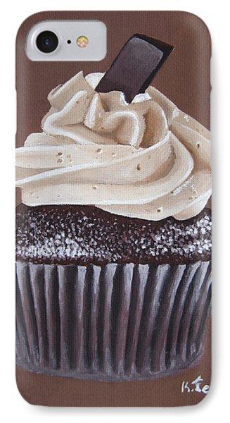 Mocha Cupcake Phone Case by Kayleigh Semeniuk