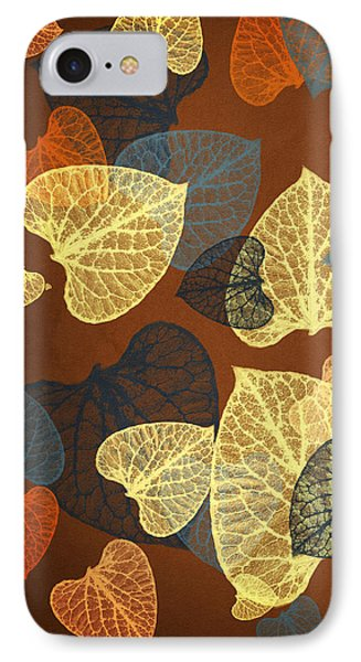 Mocha Square Leaf Abstract IPhone Case by Christina Rollo