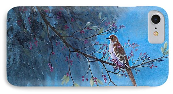 IPhone Case featuring the painting Mockingbird Happiness by Suzanne Theis