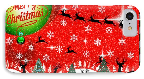 Mod Cards - Reindeer Games - Merry Christmas IPhone Case by Aurelio Zucco