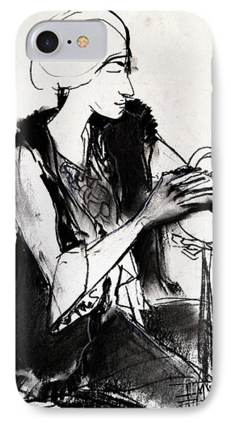 Model #1 - Figure Series IPhone Case by Mona Edulesco