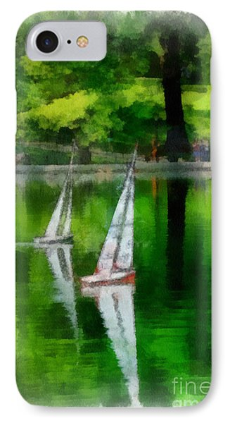Model Boat Basin Central Park Phone Case by Amy Cicconi