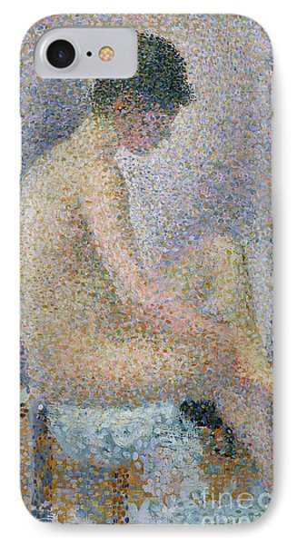 Model In Profile IPhone Case by Georges Pierre Seurat