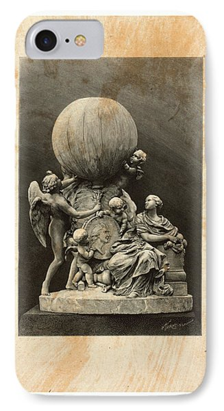 Model Of A Statue Dedicated To French Balloonists IPhone Case by English School
