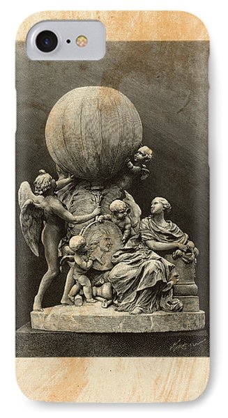 Model Of A Statue Dedicated To French Balloonists IPhone Case by Litz Collection