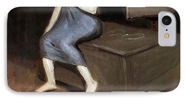 Model Sitting Phone Case by Edward Hopper