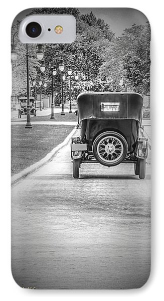 Model T Ford Down The Road IPhone Case