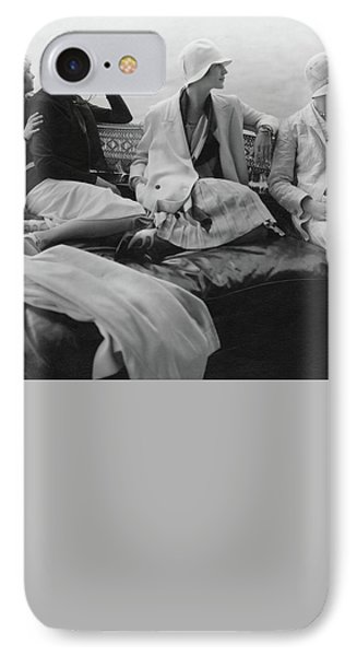 Models On A Yacht IPhone Case by Edward Steichen