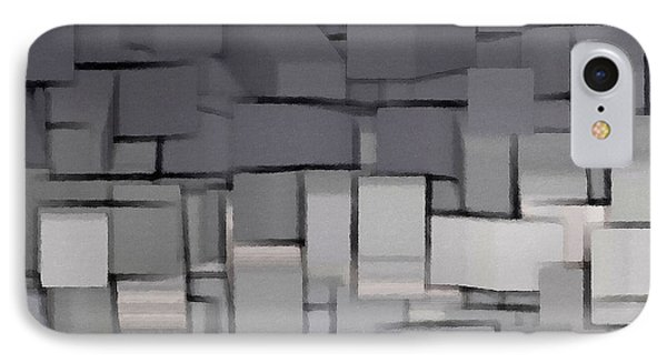 Modern Abstract Art Xx IPhone Case by Lourry Legarde