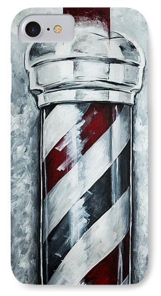 Modern Barber Pole IPhone Case by The Styles Gallery