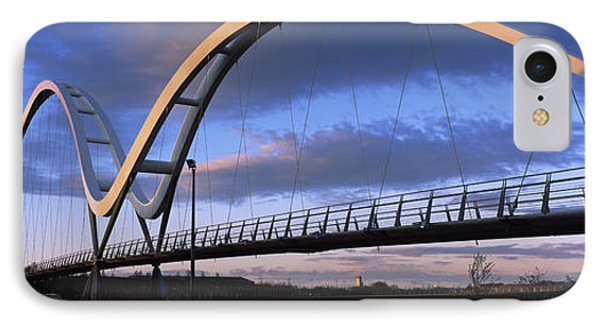 Modern Bridge Over A River, Infinity IPhone Case by Panoramic Images