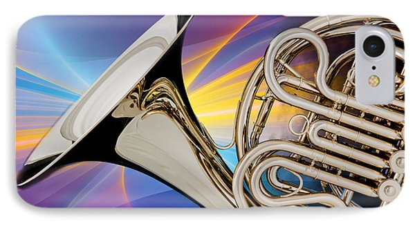 Modern French Horn Photograph In Color 3437.02 IPhone Case