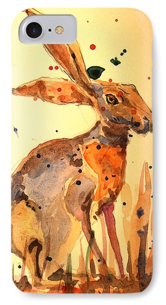 Rabbit iPhone 7 Case - Modern Hare by Juan  Bosco