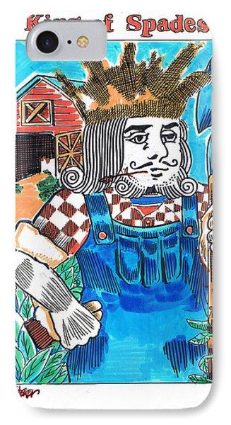 Modern King O' Spades IPhone Case by Seth Weaver