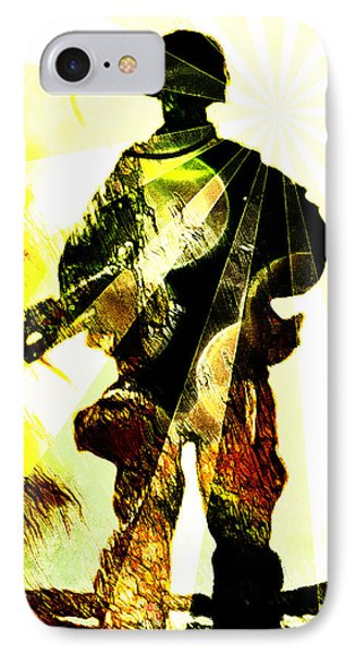 Modern Soldier IPhone Case by Andrea Barbieri