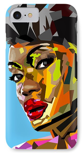 IPhone Case featuring the digital art Modern Woman by Anthony Mwangi