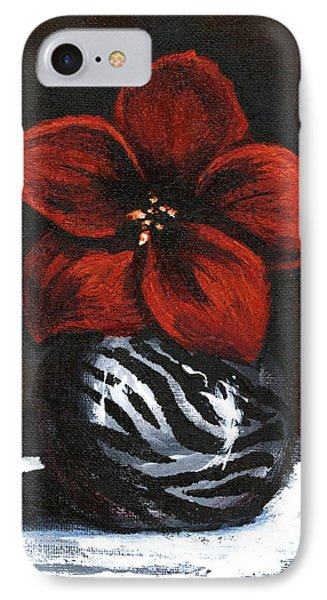 Modest Little Red Flower IPhone Case by Alga Washington