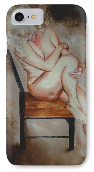 IPhone Case featuring the painting Modesty  by Cherise Foster