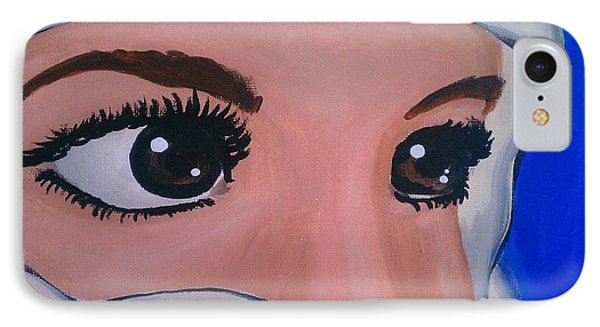 IPhone Case featuring the painting Modesty by Marisela Mungia