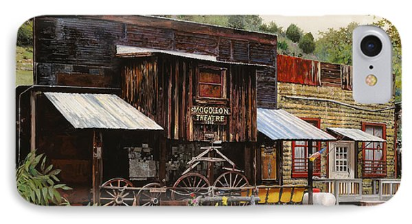 Mogollon-theatre-new Mexico  IPhone Case by Guido Borelli