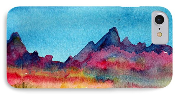 Mohave Mountains IPhone Case by Anne Duke