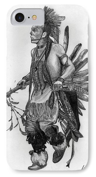 Mohawk Dancer Phone Case by Lew Davis